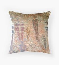 Barrier Canyon Pictographs Throw Pillow