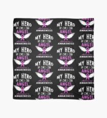 My Hero Is Now My Angel- Alzheimer's Awareness Scarf