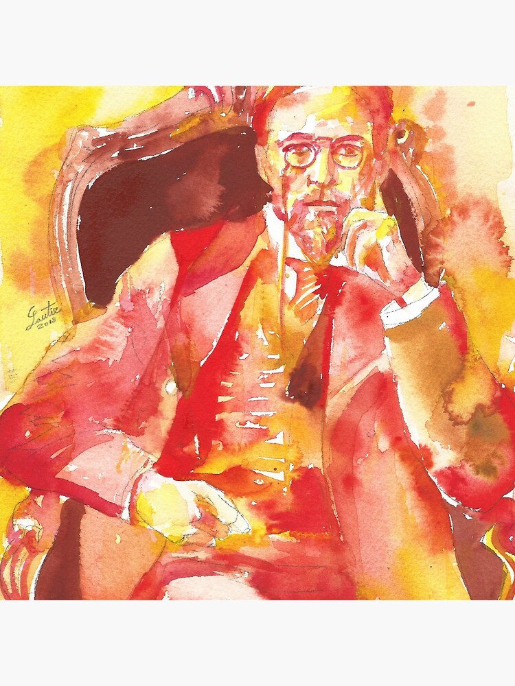 ANTON CHEKHOV - watercolor portrait.6 by lautir