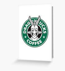 Dragonbucks Coffee Greeting Card