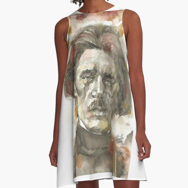 MAXIM GORKY - watercolor portrait A-Line Dress