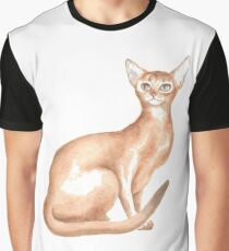 Abyssinian Cat Kitty Pet Graphic T-Shirt