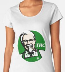 Camiseta premium para mujer KFC PARODY THC Weed.