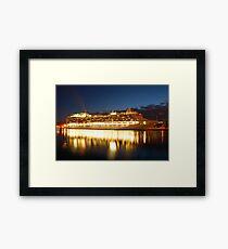 crown princess cruise liner Framed Print