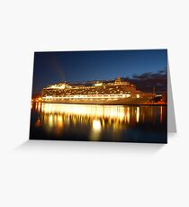 crown princess cruise liner Greeting Card