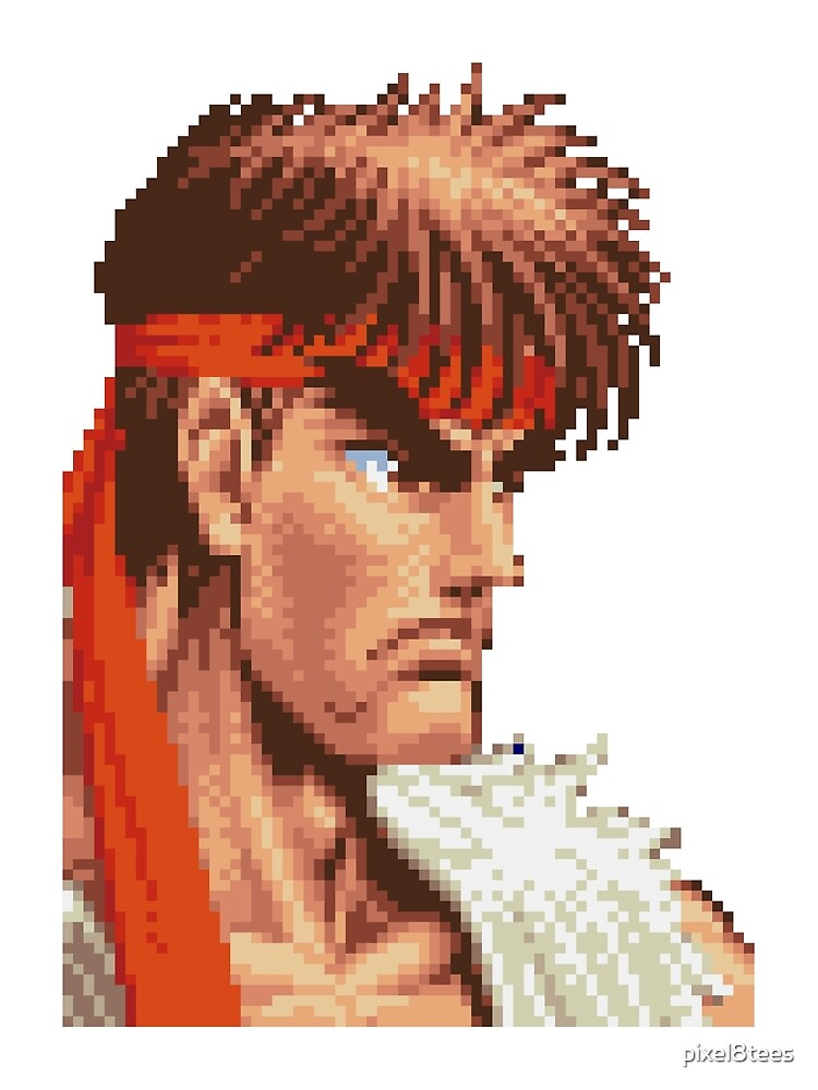 Super Street Fighter Ii Ryu By Pixel8tees Redbubble