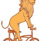 « Lion à vélo » par Amélie  Legault