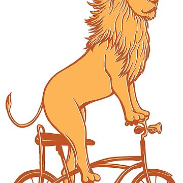 Lion on bike by amelielegault