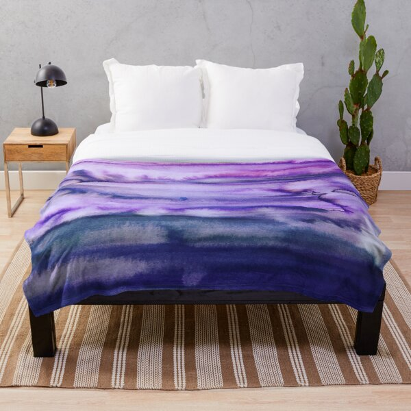 Power Purple Throw Blanket
