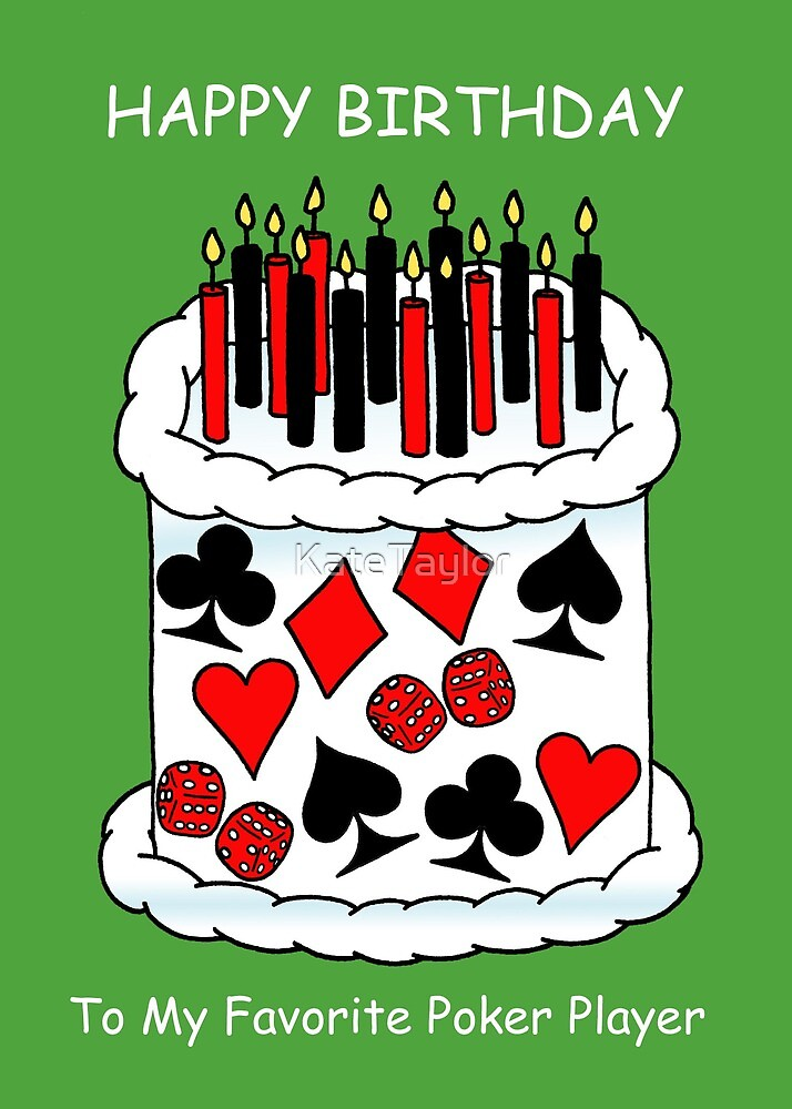 Happy Birthday To Poker Player Playing Card Cake By Katetaylor