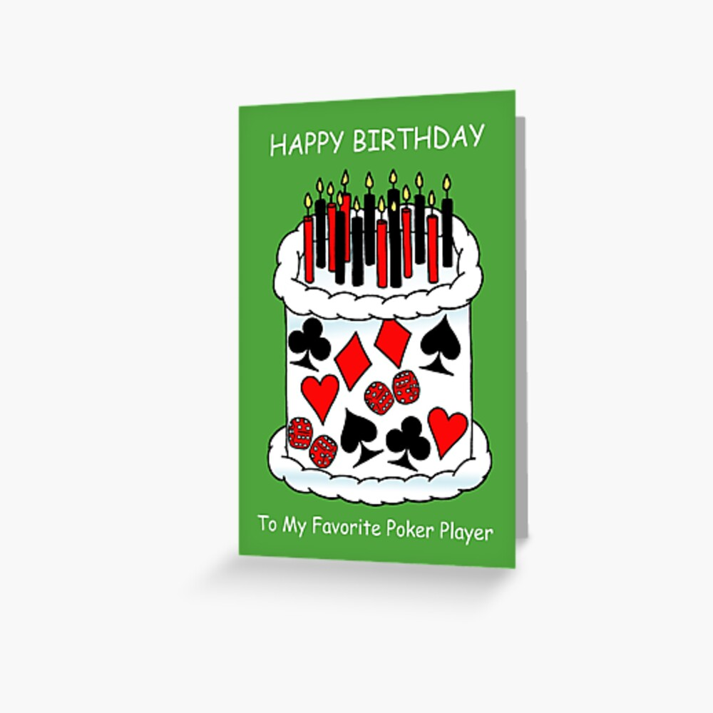 """Happy Birthday To Poker Player, Playing Card Cake"