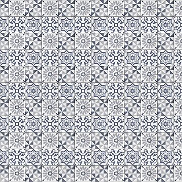 Patchwork pattern - seamless abstract tile design   by ohaniki