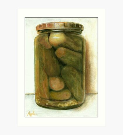 Dill Pickles - still life painting Art Print
