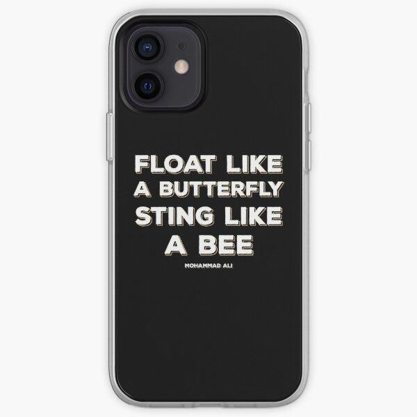 Flotte comme un papillon, pique comme une abeille Coque souple iPhone