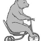 « Ours à vélo » par Amélie  Legault