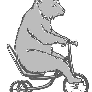 Bear on bike  by amelielegault