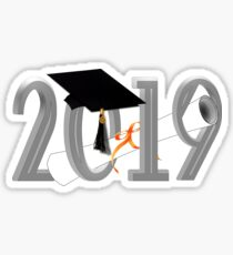 Class of 2019 - Graduation Cap with Diploma Sticker