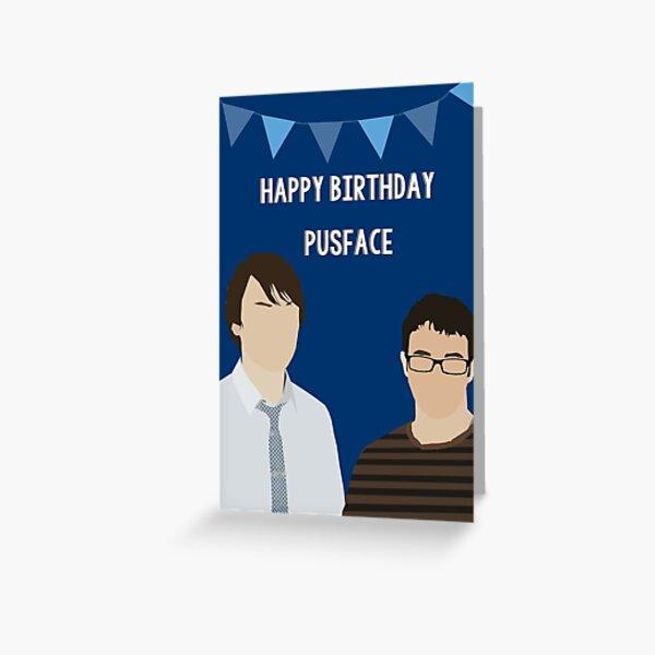 pusface. Greeting Card