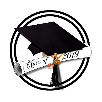 Class of 2019 Graduation Cap and Diploma by Gravityx9