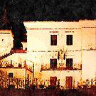 Borrello: city hall at night by Giuseppe Cocco