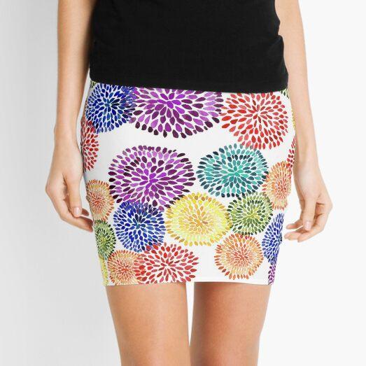 Dancing Dahlias Mini Skirt