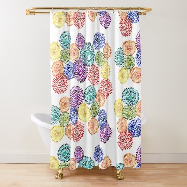 Dancing Dahlias Shower Curtain