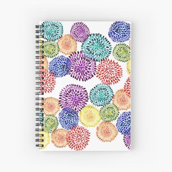 Dancing Dahlias Spiral Notebook