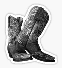 Knockout Cowgirl Boots Sticker