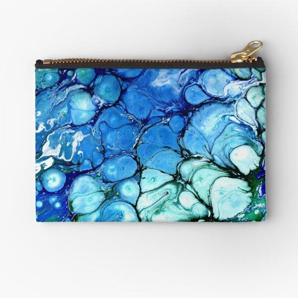 Blue Bubbles Zipper Pouch