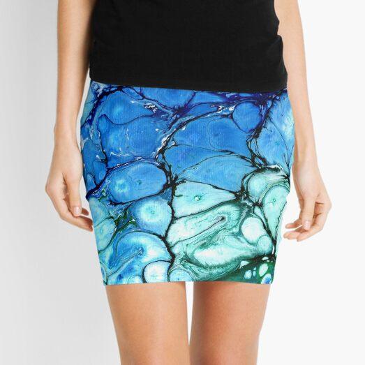 Blue Bubbles Mini Skirt