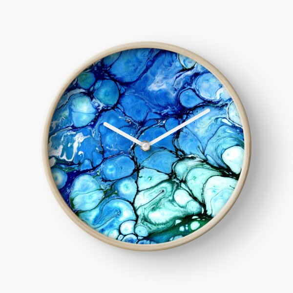 Blue Bubbles Clock