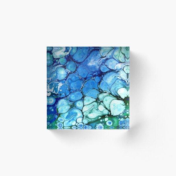 Blue Bubbles Acrylic Block