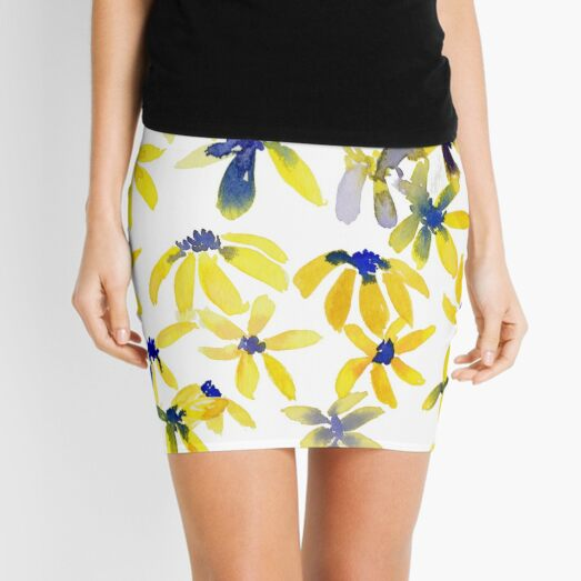 Blue Eyed Susan Mini Skirt
