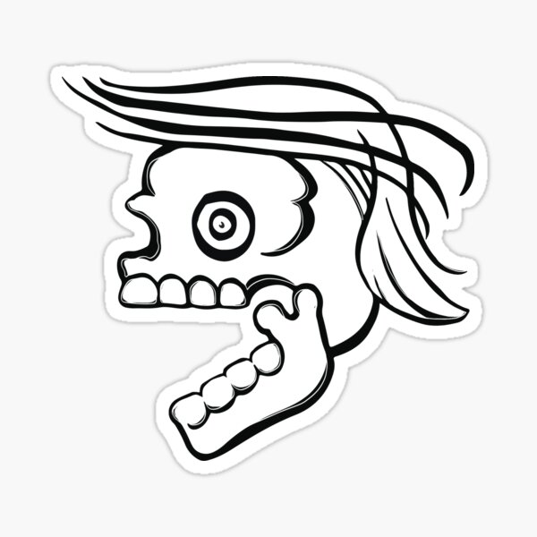Death with a bad comb-over Sticker