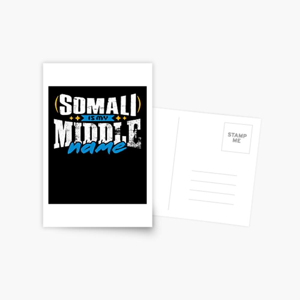 SOMALI 01 Postcard