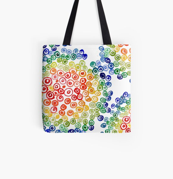 Color My Swirled All Over Print Tote Bag