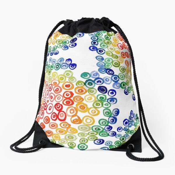 Color My Swirled Drawstring Bag