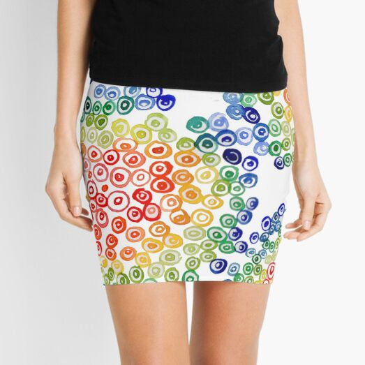 Color My Swirled Mini Skirt