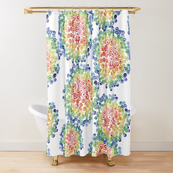 Color My Swirled Shower Curtain