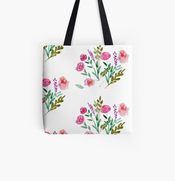 Country Bouquet All Over Print Tote Bag