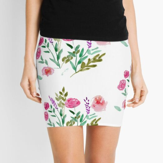 Country Bouquet Mini Skirt