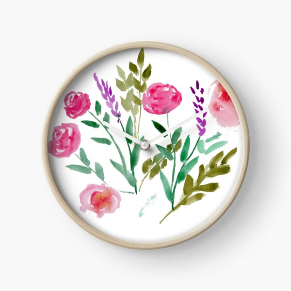 Country Bouquet Clock