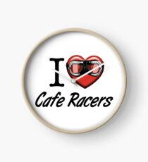 I love Cafe Racers Clock