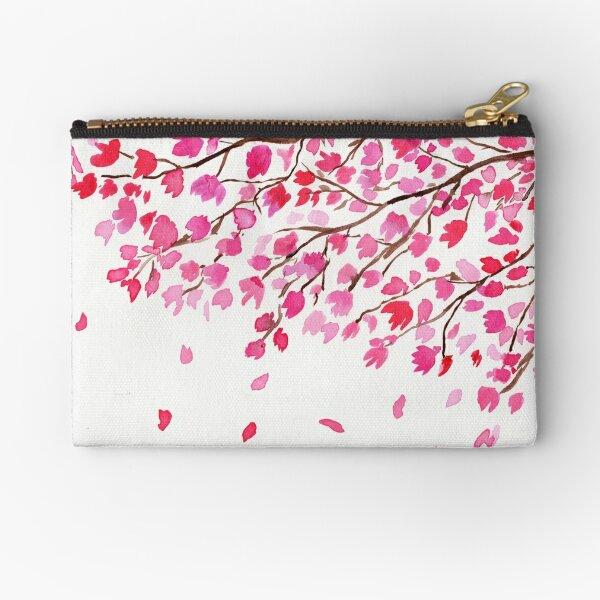 Rain of Cherry Blossoms Zipper Pouch