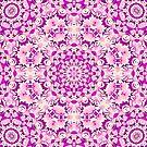 Simply Yellow Double Kaleidoscope Neon Pink by Dawne Dunton
