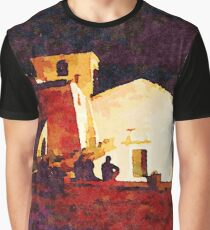 Borrello: boys sitting in front of the church at night Graphic T-Shirt