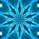 The Atala Double Kaleidoscope Neon Blue by Dawne Dunton