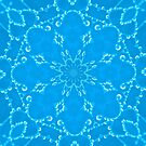 Jewels Kaleidoscope Neon Sky Blue by Dawne Dunton