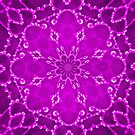 Jewels Kaleidoscope Neon Burgundy by Dawne Dunton