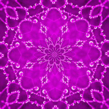 Jewels Kaleidoscope Neon Burgundy by DAWNESROMEO